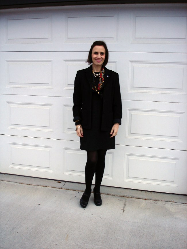 #over40 LBD with black blazer | High Latitude Style | http://www.highlatitudestyle.com