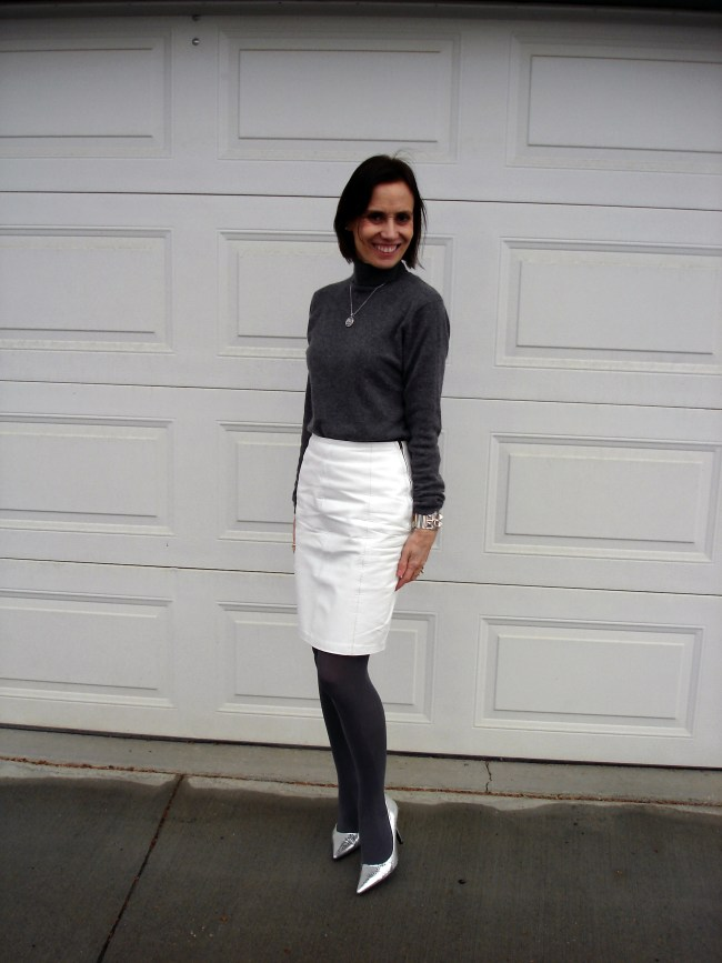 white gray office look