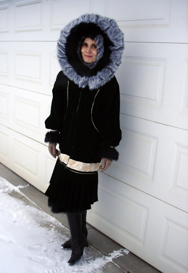 #Kuspak woman wearing a traditional Alaska kuspak