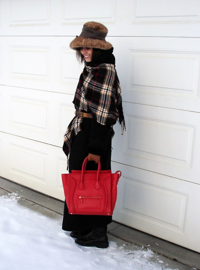 midlife woman in winter outfit for 40 below