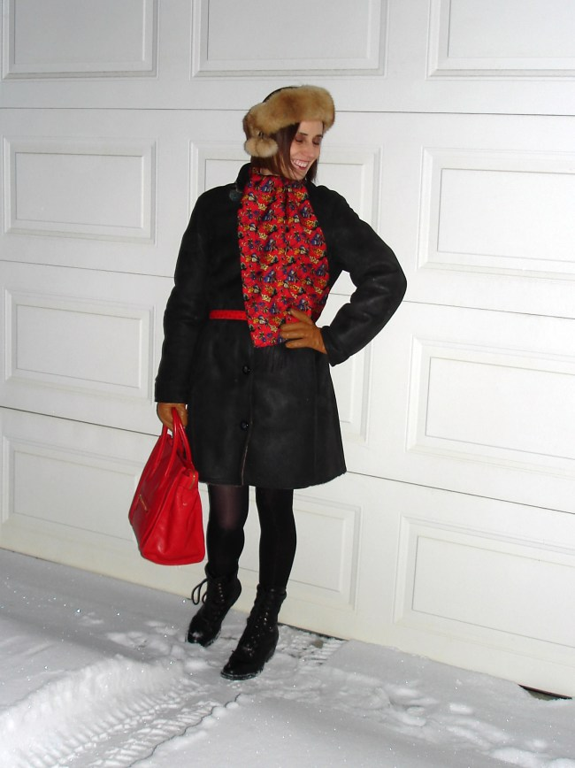 #over40 Mature woman in stylish winter outerwear