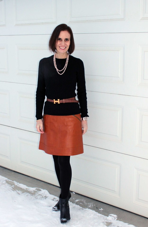 #over40style Classic mature office outfit