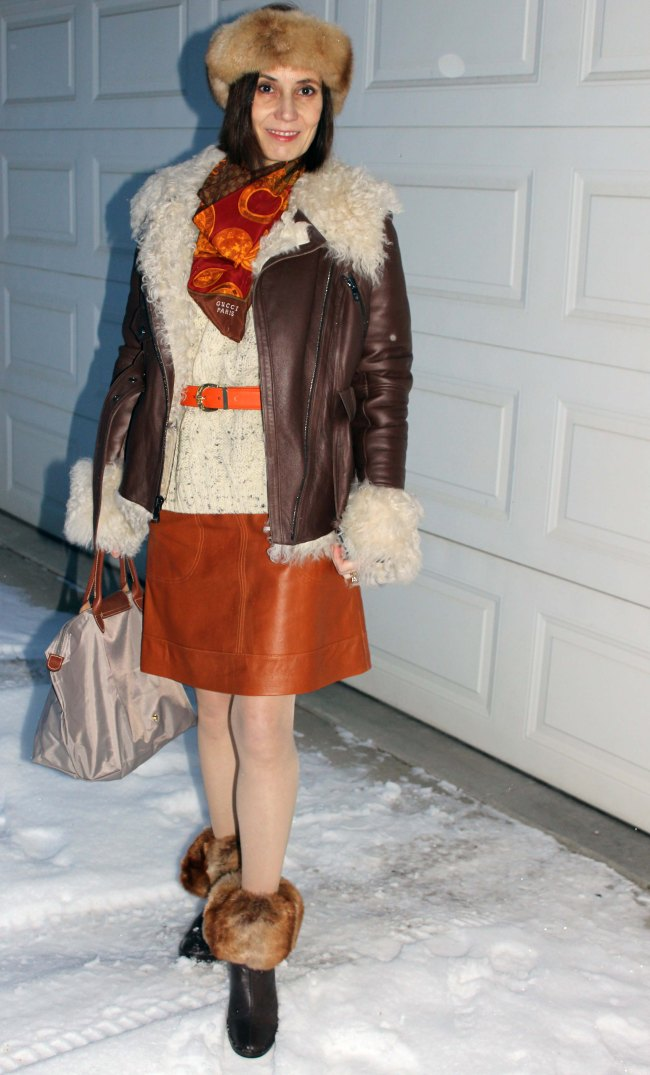 Winter look for mature woman