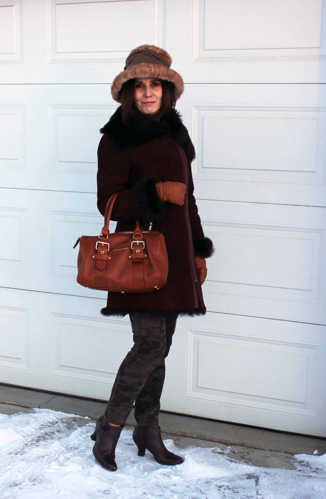 #styleover40 winter look for women over 40