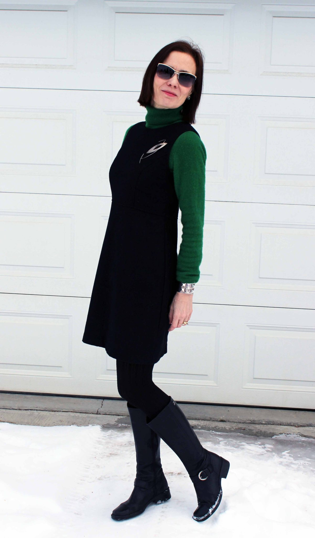 black sheath dress for March 17