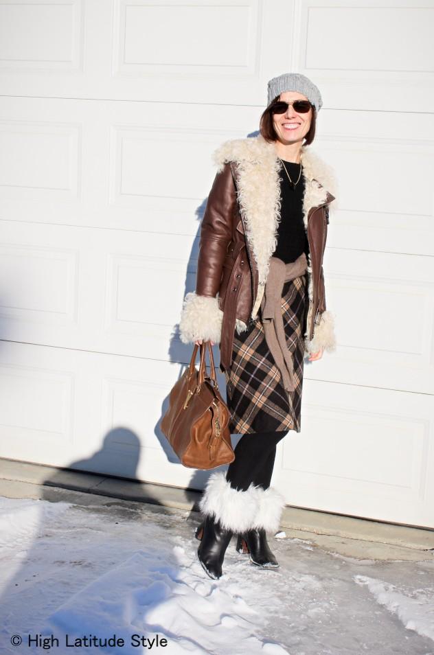 midlife women in street style winter outerwear
