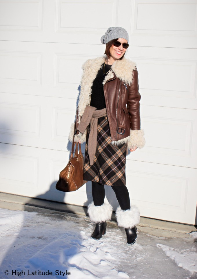 Woman looking posh is winter look