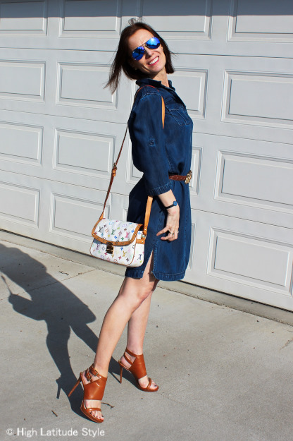 #chambary dress, #Michael Koers sandals #LVbag, #KieselsteinCordBelt #HighLatitudeStyle