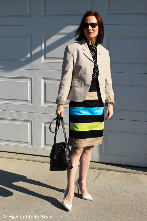 #midlifestyle woman in business casual look