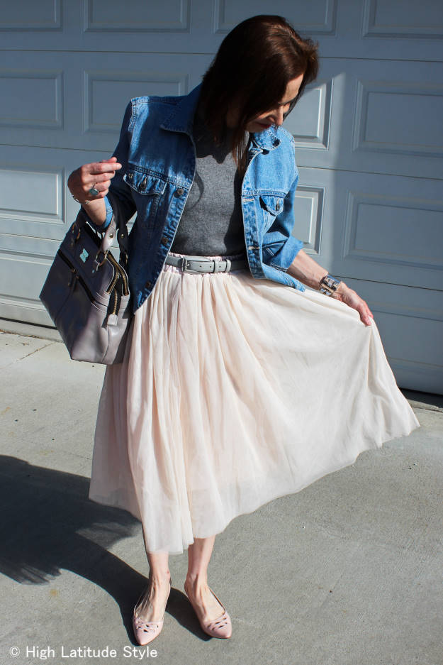 Lookbook Store layered mesh skirt – a mother of pearl and ballet dream