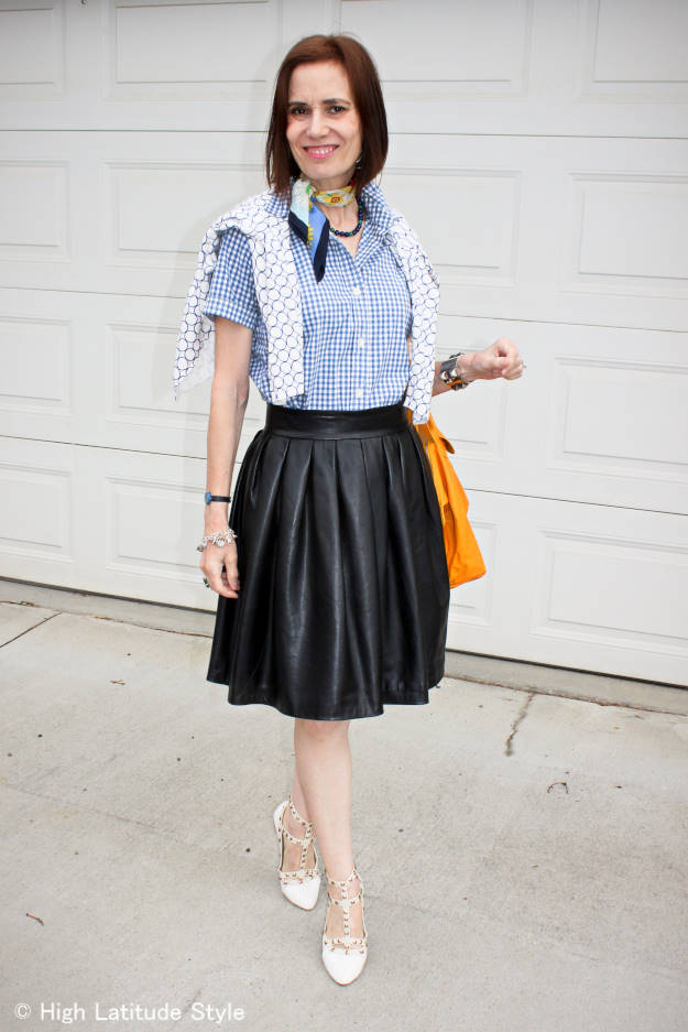 #over50fashion Spring trend 2015 gingham shirt