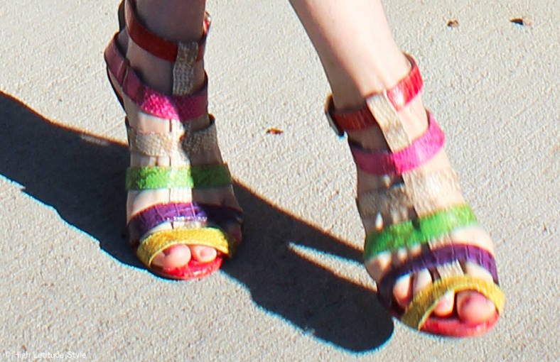 multi-color Strappy Sandals