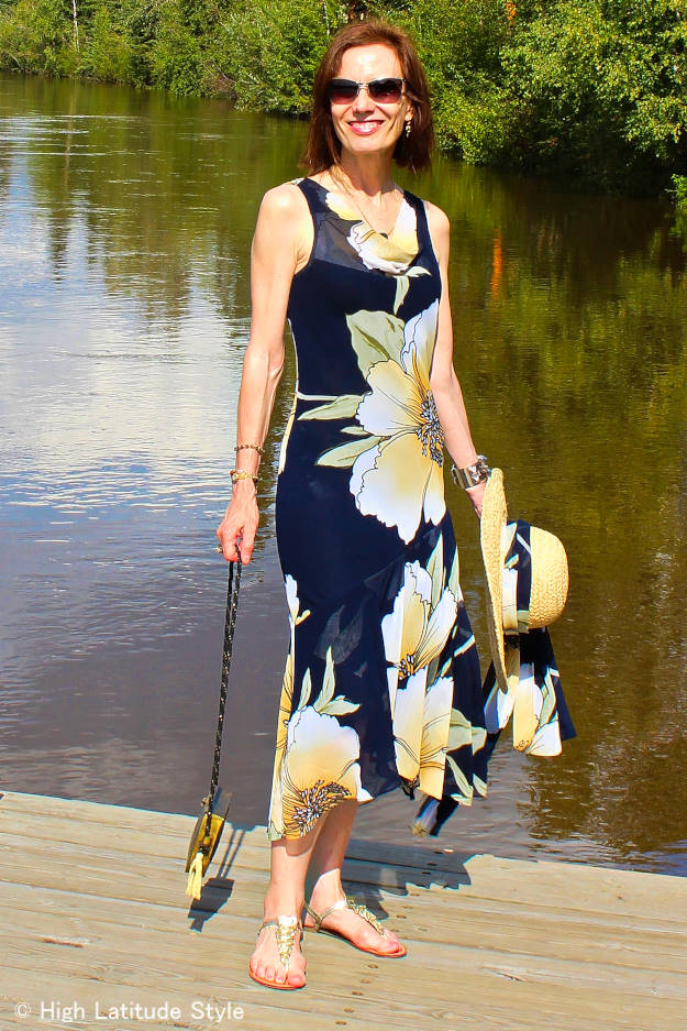 #styleover40 floral summer dress http://www.highlatitudestyle.com