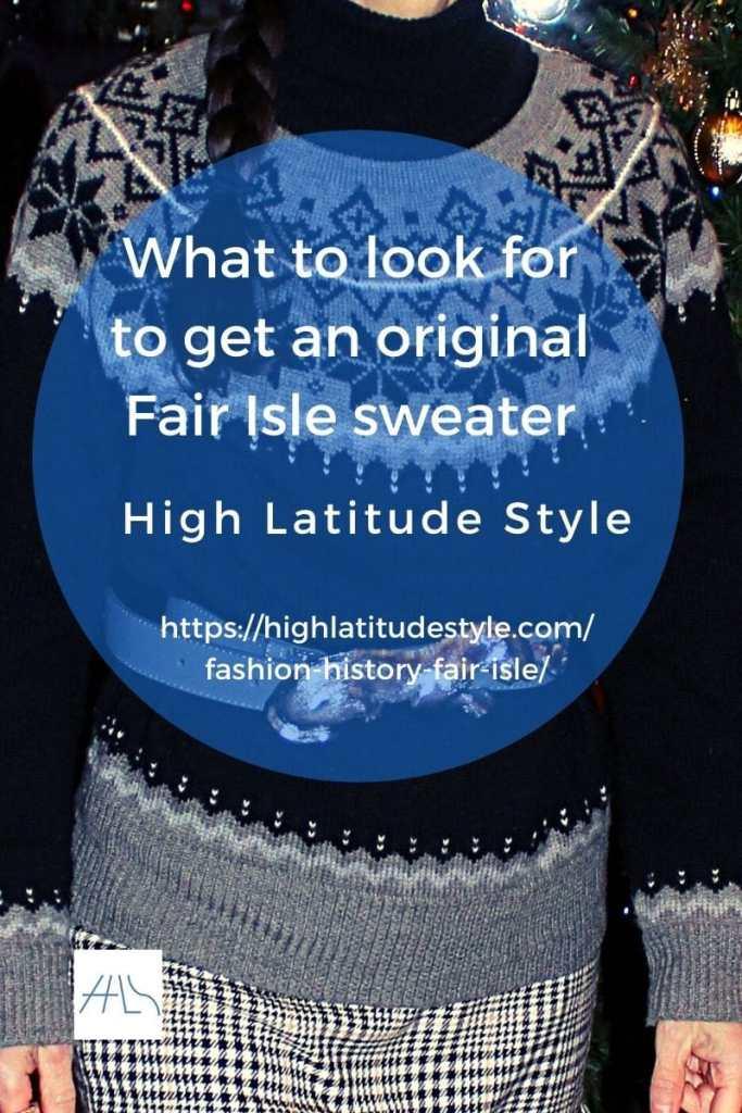 characteristics of an original Fair Isle sweater post banner
