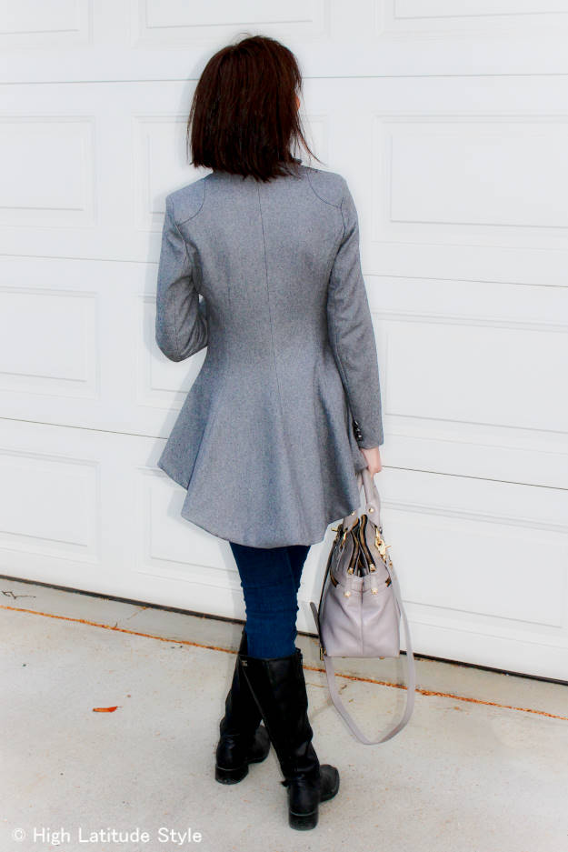 #fashionover40 skinnies, blazer and riding footwear