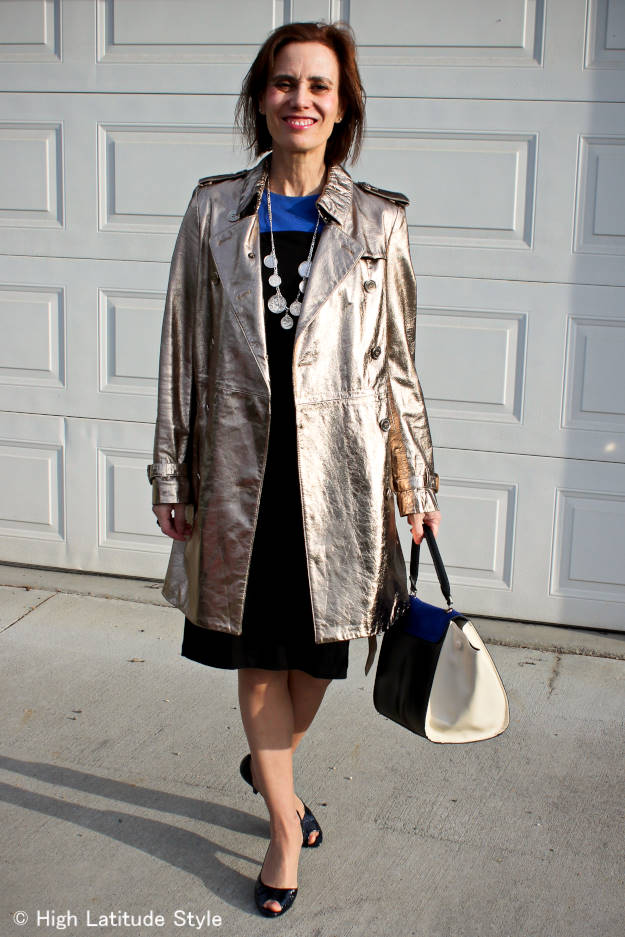 #BurberryTrenchCoat #RonenChenDress #HighLatitudeStyle #coinnecklace http://www.highlatitudestyle.com