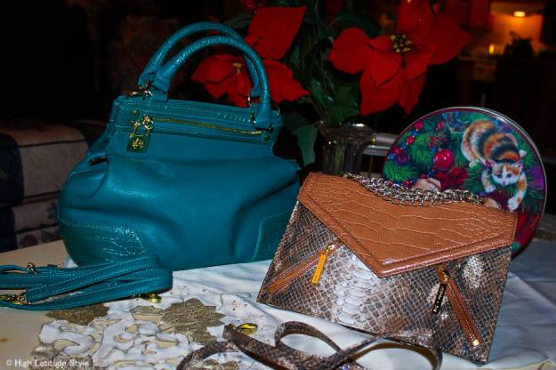 #dreambags Emma Satchel (left) and Amber Convertible Crossbody minibag/clutch from the Olivia + Joy Holiday Collection