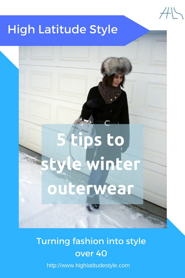 #fashionover50 5 tips to style winter outerwear over 40