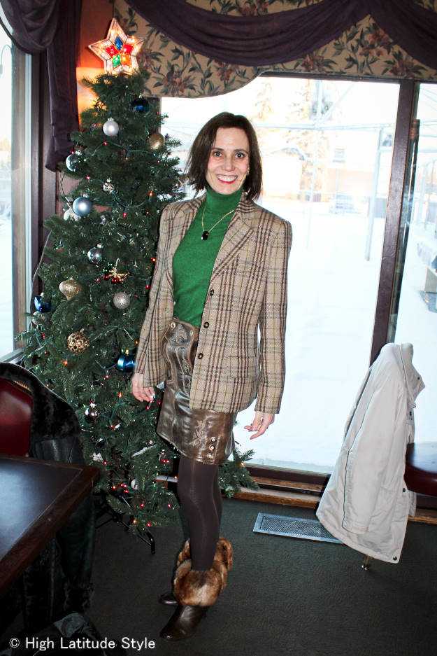 Style blogger in a Lederhosentürle skirt