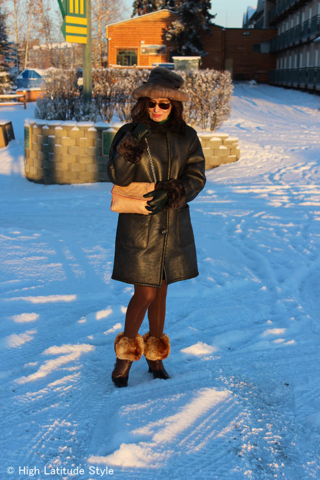 #fashionover40 Elegant, warm winter look