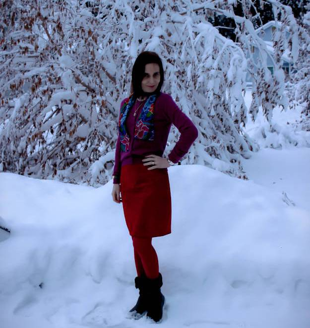 #over40 winter work outfit | High Latitude Style | http://www.hughlatitudestyle.com