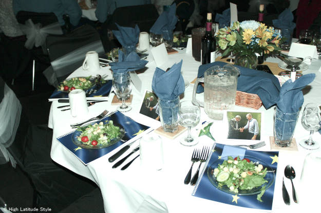 table at the Fairbanks Walker/Mallott Inaugural Ball  |High Latitude Style | http://www.highlatitudestyle.com