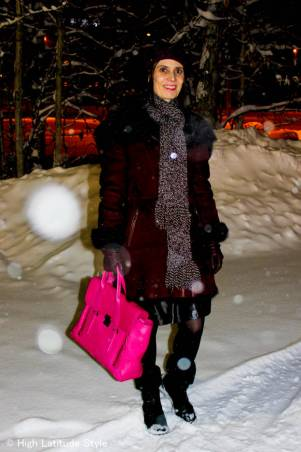 #over40 Winter outfit with shearling motorcycle coat | High Latitude Style | http://www.highlatitudestyle.com