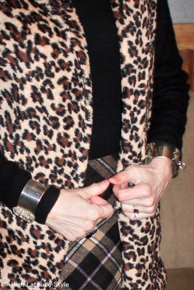 #fashionover50 Covered Perfectly vest details