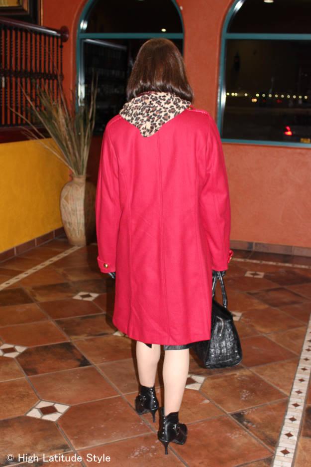over 40 style Leopard light weight faux fur vest under coat