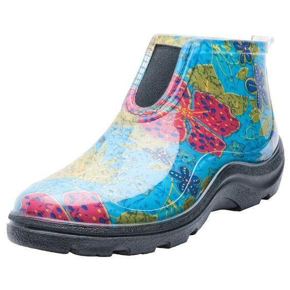 multi-color rain booties for small women