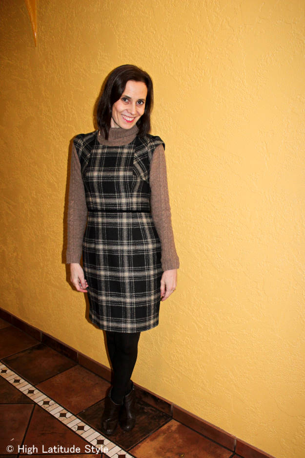 over50fashion Layering a dress over dress