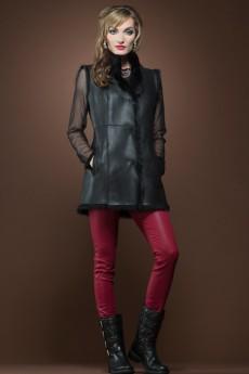 ML Furs Black Shearling Vest