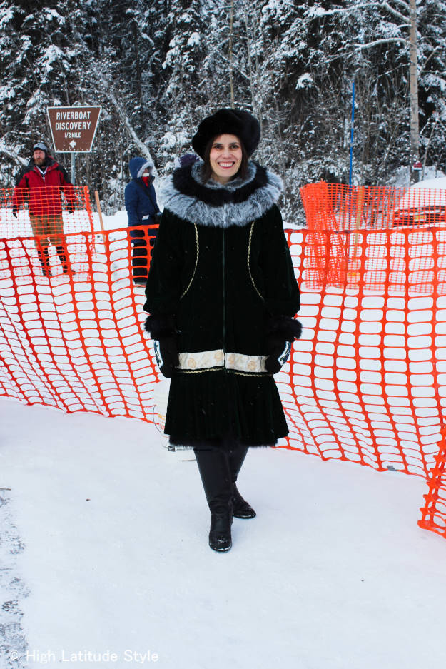 #over40fashion Kuspak Alaska street style at Iditarod dog race