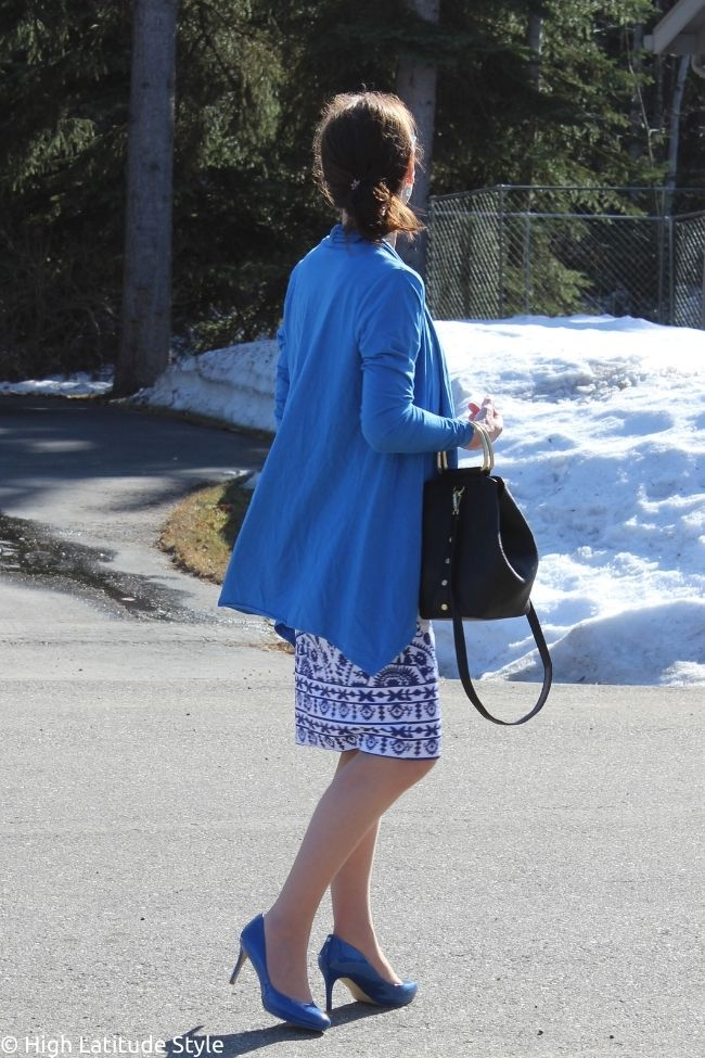 back view of dress with jacket