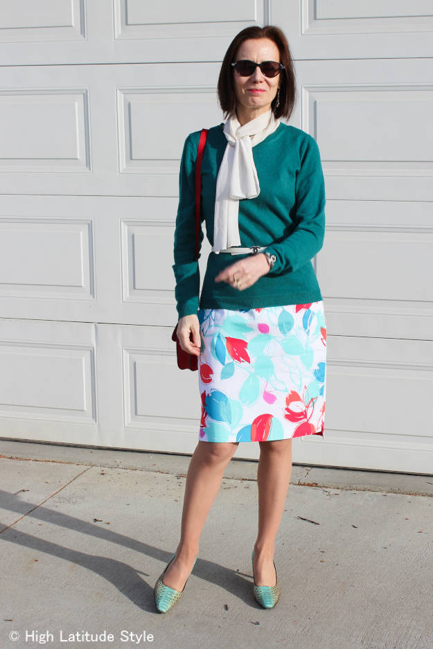 #fashion-over-50 fighting winter wardrobe boredom with spring pieces