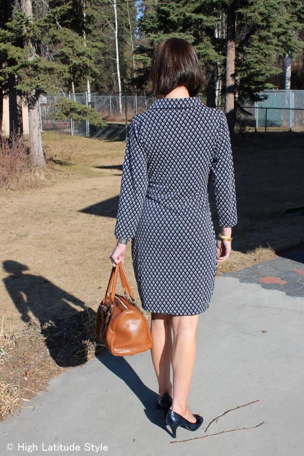 fashion influencer wearing a Samantha Brown dress