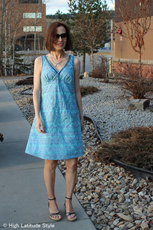 HSN review Sigrid Olsen designer shift dress for fashion over 40