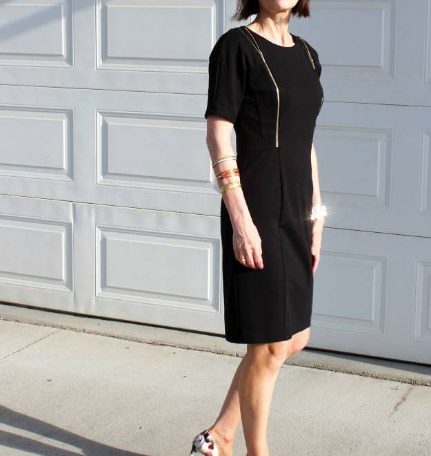 #over40 #over50 thrifted LBD | High Latitude Style | http://www.highlatitudestyle.com