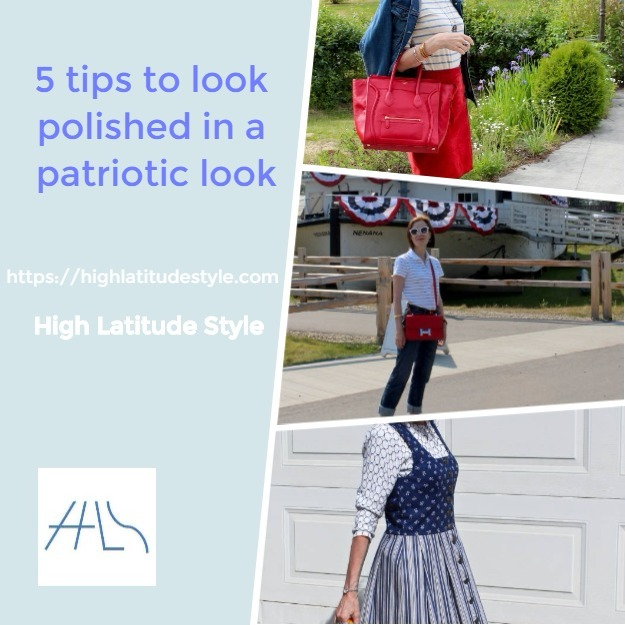 #midlifestyle 5 tips to look polished in a patriotic look