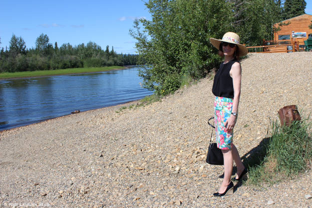 #over40fashion #over50fashion Alaskan woman in summer outfit