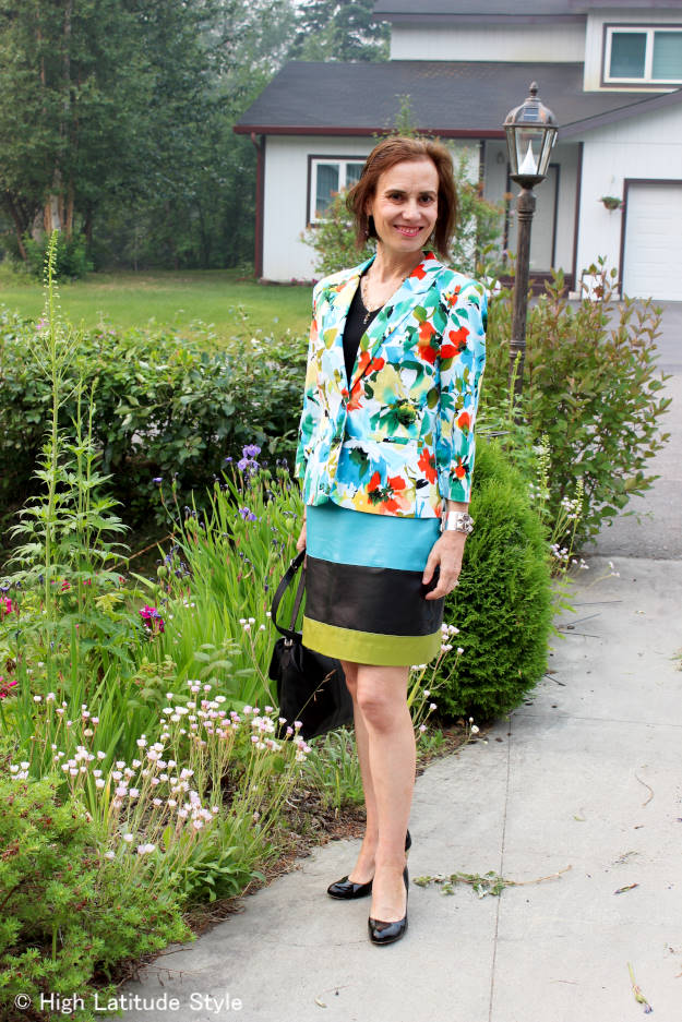 #over50fashion daring outfit with multiple colors and pattern @ http://www.highlatitudestyle.com