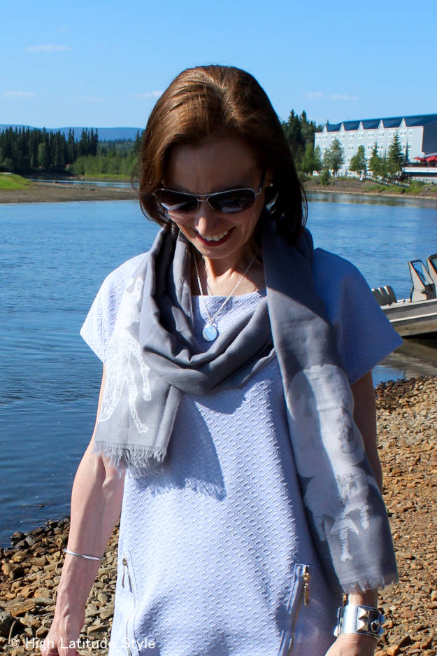 Indie Hicks Siren scarf details of the beetle print @ http://www.highlatitudestyle.com
