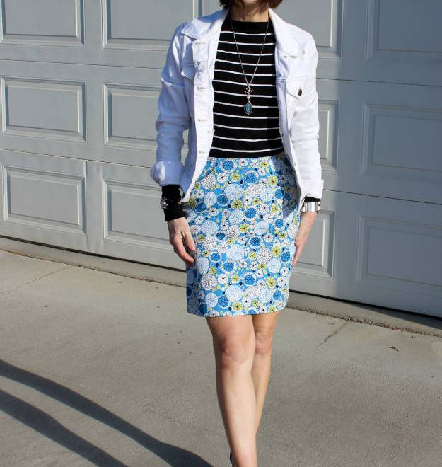 #over40 #over50 casual polished outfit with skirt | High Latitude Style | http://www.highlatitudestyle.com