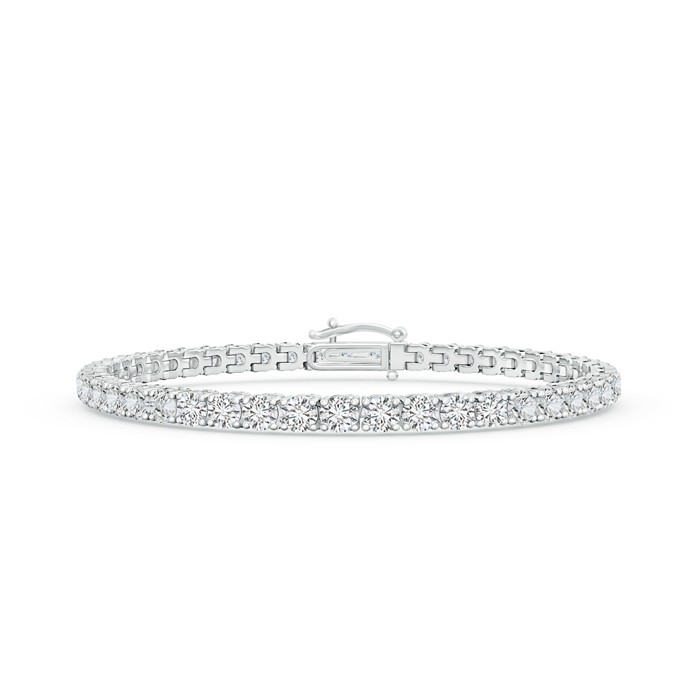 #Angara inline four prong diamond eternity tennis bracelet
