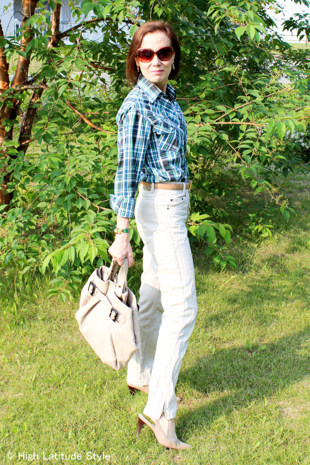 #over40fashion #over50fashion casual posh look for work