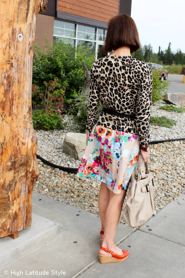 mixing floral and leopard prints over 40
