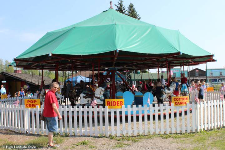 old-fashioned merry-go-round in Pioneer Park, Fairbanks