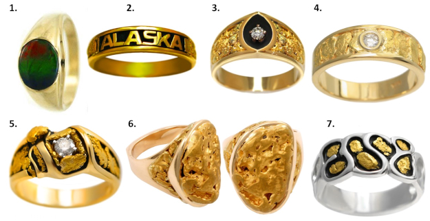 #AlaskaJewelry Alaska style jewelry for men