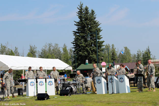 Army band in Fairbanks' Pioneer Park