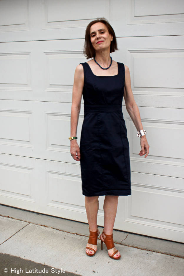 #over40style #over40fashion #over50fashion sheath dress | High Latitude Style | http://www.highlatitudestyle.com